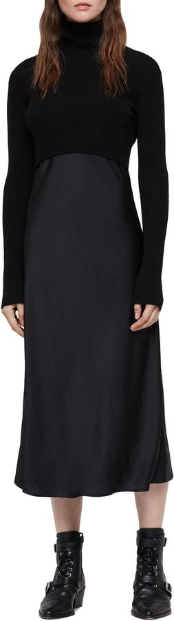 AllSaints Kowlo Two-Piece Sweater & Slipdress