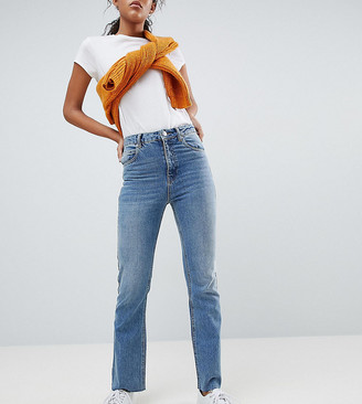 Asos Tall ASOS DESIGN Tall Egerton rigid cropped flare jeans in vintage mid wash
