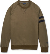 Lanvin - Grosgrain-trimmed Distressed Cotton-jersey Sweatshirt