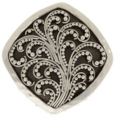 Lois Hill Sterling Silver Granulated Cutout Ring - Size 7