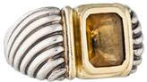 David Yurman Two-Tone Citrine Cocktail Ring