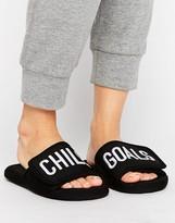 Asos NEO Slogan Loungewear Slippers