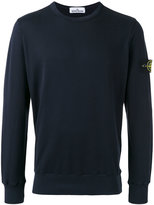 Stone Island logo patch sweatshirt - men - Cotton - L