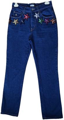 ATTICO Navy Cotton Jeans for Women