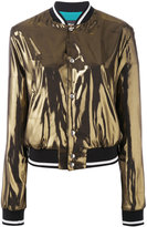 Just Cavalli metallic bomber jacket - women - Polyester/Viscose - 38