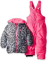 Pink Platinum Baby Girls Cheetah Jacket Print Snowsuit