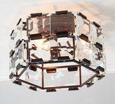 Pottery Barn Manor Crystal Paneled Flushmount