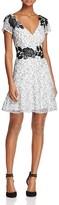Aidan Mattox MD1E201162 Keyhole Floral A-Line Dress
