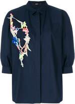 Steffen Schraut floral embroidery shirt