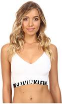 Calvin Klein Underwear Logo Cotton Longline Bralette
