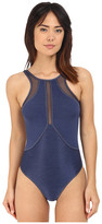 Jets Fusion High Neck One-Piece Swimsuit