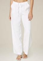 Bebe White Linen Cargo Pants