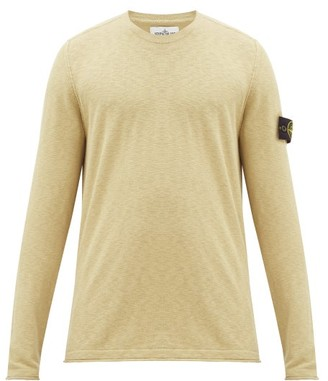 Stone Island Logo-patch Technical-cotton Sweater - Brown