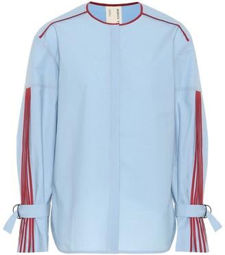 BODICE Pleated cotton blouse