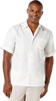 Cubavera 100% Linen Short Sleeve 1 Pocket Cross Dye Shirt