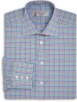 Turnbull & Asser Multicolored Tattersall Regular Fit Dress Shirt