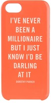 Kate Spade Millionaire Quote Phone Case for iPhone 5 (Flo Coral/Cream) - Bags and Luggage