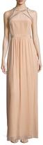 Rebecca Taylor Silk Ladders Pleated Gown