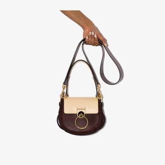 Chloé Brown Tess small leather shoulder bag