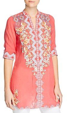 Johnny Was Harlow Embroidered Tunic Top