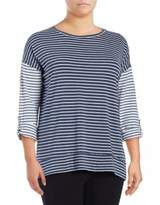 Calvin Klein Plus Striped Performance Top