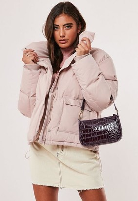 Missguided Baby Pink Ultimate Puffer Jacket