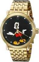 Disney Men's W001837 Mickey Mouse Analog Display Quartz Gold Watch