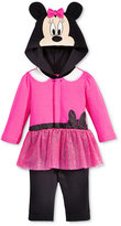 Nannette Baby Girls' Minnie Mouse Hooded Coverall