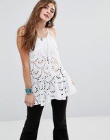 Free People Starry Eyelet Cami Top