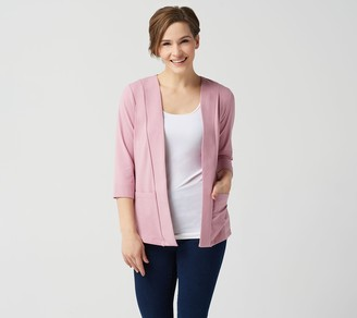 Denim & Co. Essentials Perfect Jersey 3/4-Sleeve Cardigan