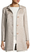 Cinzia Rocca Notch-Collar Three-Button Coat, Blush