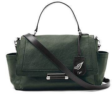 Diane von Furstenberg Highline Courier Leather Bag