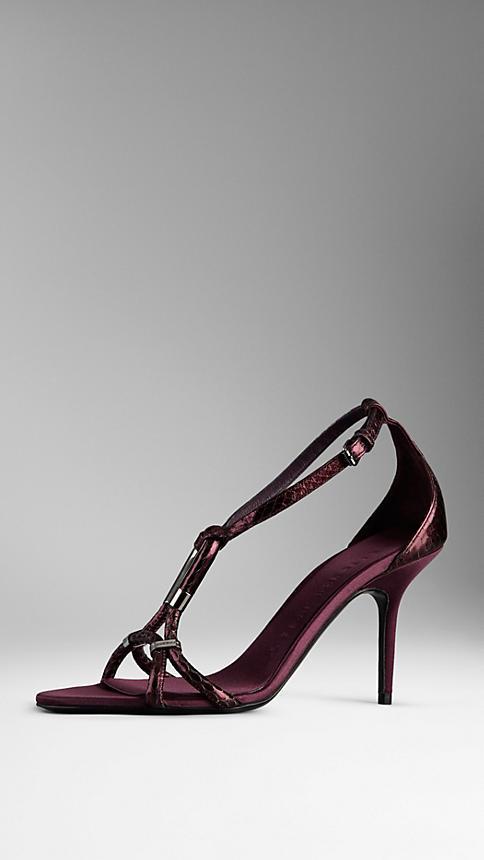 Burberry Snakeskin Sandals