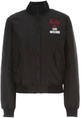 Love Moschino Padded Jacket W/written Pretty In
