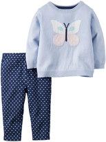 Carter's Baby Girl Sweater & Leggings Set