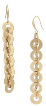 Robert Lee Morris Soho Circle Link Linear Earrings