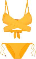 Stella McCartney Embellished Wrap Bikini - Mustard
