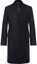 Kent & Curwen Slim-Fit Velvet-Trimmed Virgin Wool-Felt Epsom Coat