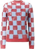 Marni checked crew neck sweater