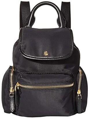 Lauren Ralph Lauren Keely 17 Soft Nylon Backpack Small (Black) Backpack Bags