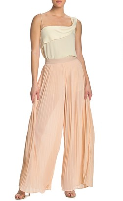 Endless Rose Chiffon Pleated Palazzo Pants