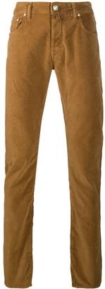 Jacob Cohen Ribbed Straight-Leg Jeans