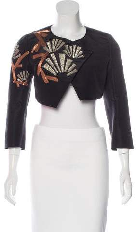 Andrew Gn 2015 Silk Embellished Jacket w/ Tags