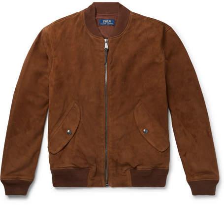 Polo Ralph Lauren Slim-Fit Suede Bomber Jacket