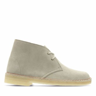 Clarks Desert Boot Suede Boots in Sand Standard Fit Size 8 Beige