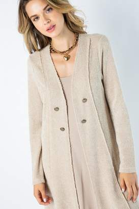 Vocal Apparel Solid Jacket Lace Detail