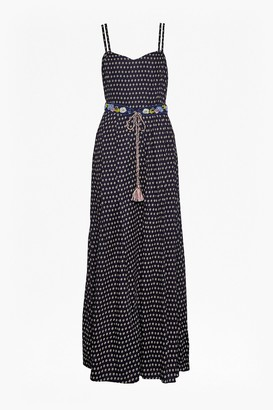 French Connection Bacongo Daisy Belted Maxi Dress