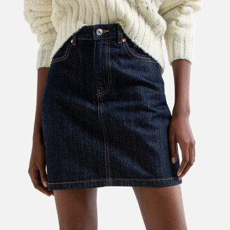 Benetton Denim Mini Skirt