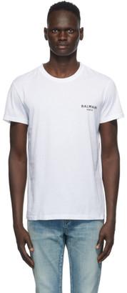 Balmain White Round Neck T-Shirt