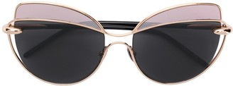 Cat Eye Two-Tone Cat-Eye Frame Sunglasses